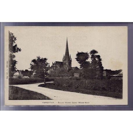 Carte postale 50 - Carentan - Eglise Notre-Dame Nord-Est - Non voyage - Dos non divise