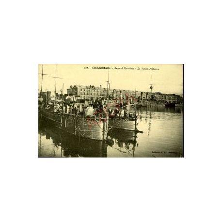 Carte postale 50 - CHERBOURG - ARSENAL MARITIME - LE BASSIN NAPOLEON