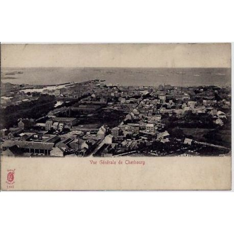 Carte postale 50 - Cherbourg - Vue generale de Cherbourg - Non voyage - Dos divise