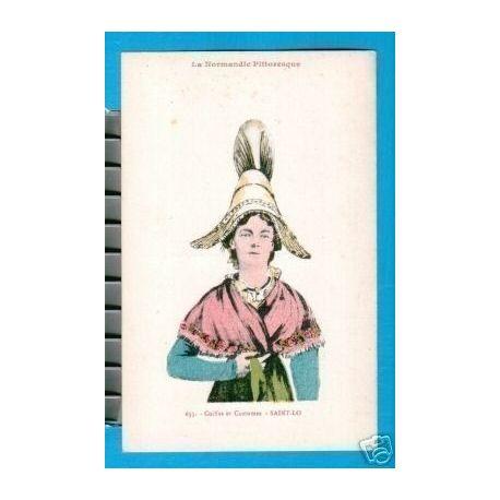 Carte postale 50 - COIFFES ET COSTUMES - SAINT-LO