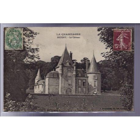Carte postale 51 - Brugny - le chateau - Voyage - Dos divise
