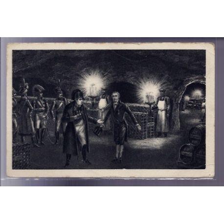 Carte postale 51 - Caves Moet et Chandon - Mr Moet Maire d' Epernay recoit la visite de Nap