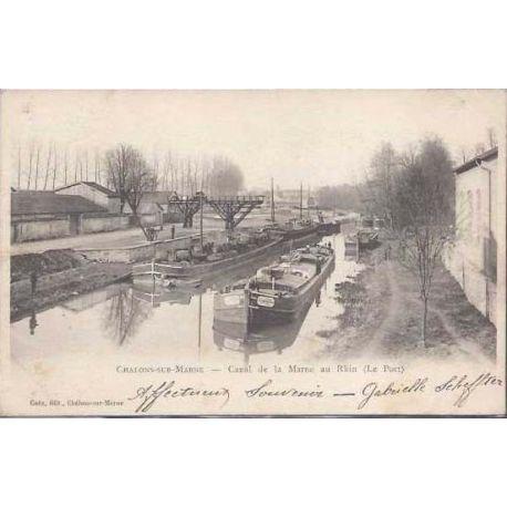 Carte postale 51 - Chalons sur Marne - Canal de la Marne au Rhin