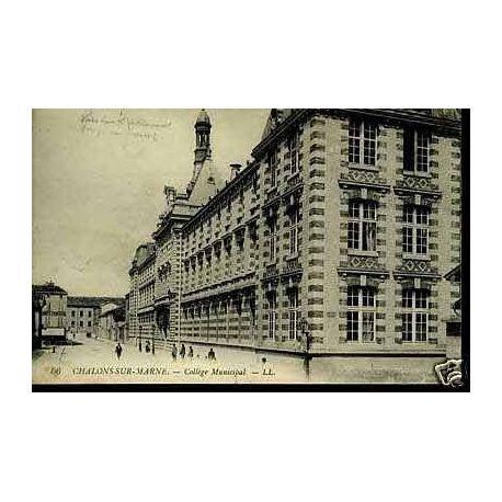 Carte postale 51 - Chalons sur marne - College municipal