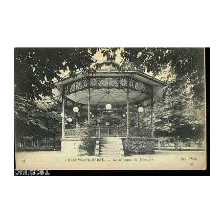 Carte postale 51 - Chalons sur marne - Le kiosque de musique