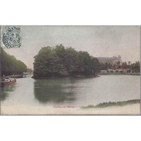 Carte postale 51 - Chalons sur Marne - L'Ile - couleur