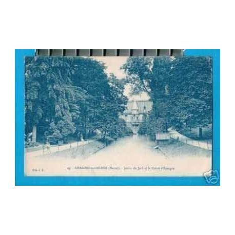 Carte postale 51 - CHALONS SUR MARNE -CAISSE D'EPARGNE JARDIN DU JARD