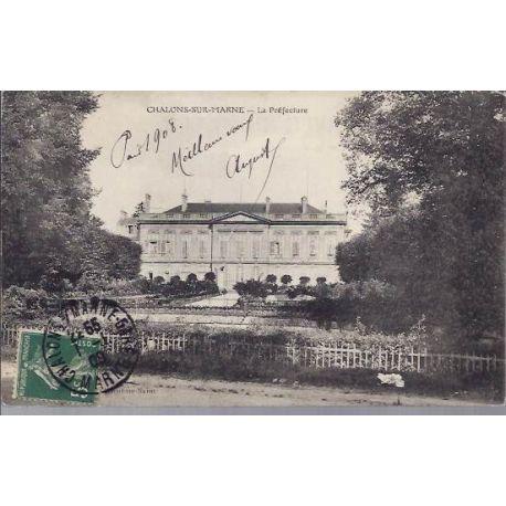 Carte postale 51 - Chalons/Marne - La prefecture - 1909
