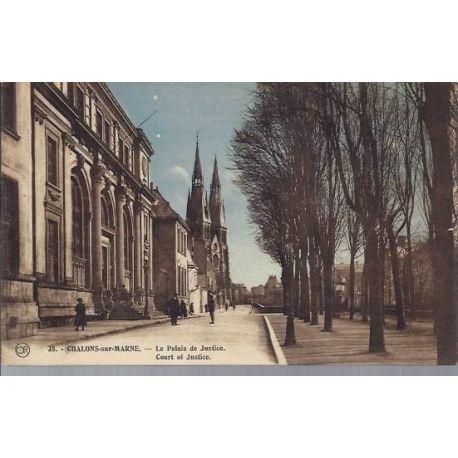 Carte postale 51 - Chalons/Marne - Palais de justice