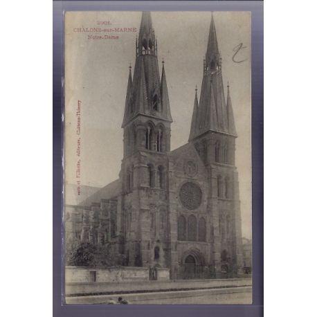 Carte postale 51 - Chalons-sur-Marne - Eglise Notre-Dame - Non voyage - Dos non divise