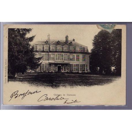 Carte postale 51 - Chateau de Dormans - Voyage - Dos non divise