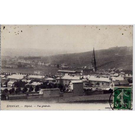 Carte postale 51 - Epernay - Hopital - Vue generale - Voyage - Dos divise