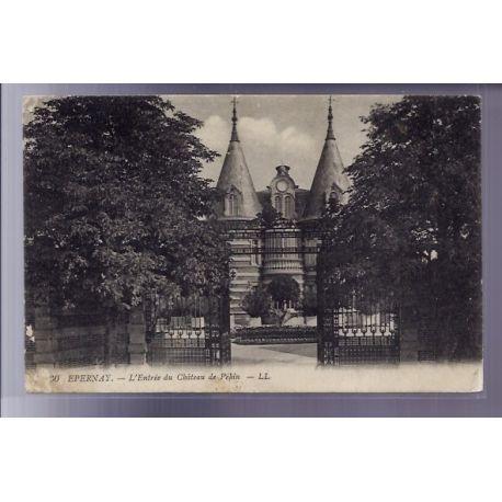 Carte postale 51 - Epernay - L' entree du chateau de Pekin - Voyage - Dos divise