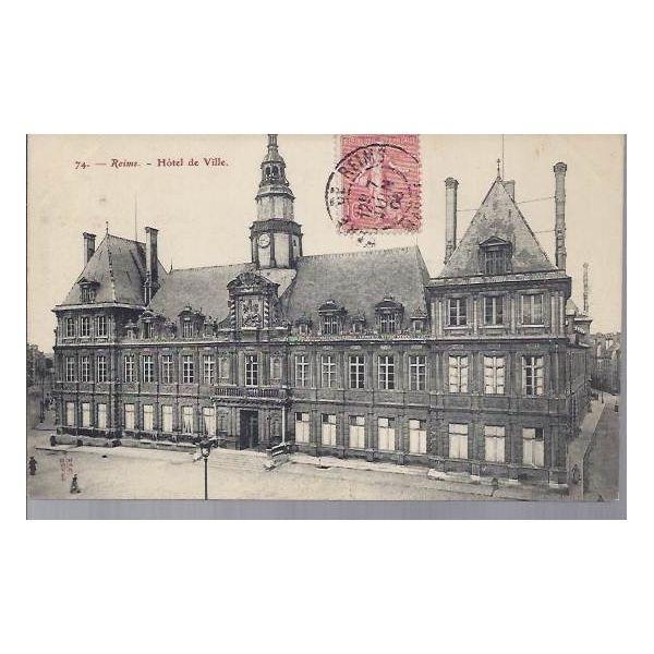 51 reims l 39 hotel de ville 1906 la maison du for Ville du 51