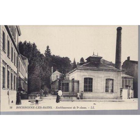 Carte postale 52 - Bourbonne - Etablissement de 2me classe