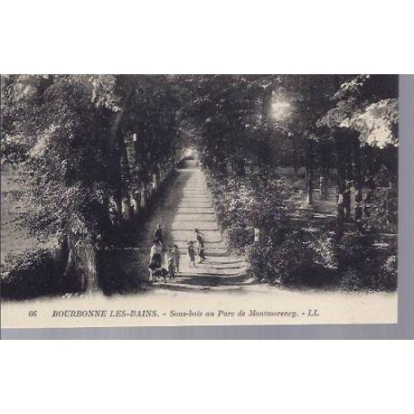 Carte postale 52 - Bourbonne les Bains - Parc de Montmorency
