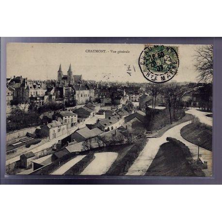Carte postale 52 - Chaumont - Vue generale - Voyage - Dos divise