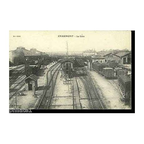 52 - Chaumont - Vue generale de la gare - Train