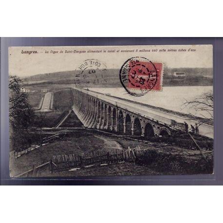 Carte postale 52 - Langres - La digue de Saint-Ciergues alimentant le Canal et contenant 8