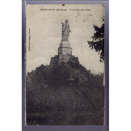Carte postale 52 - Montlandon - Notre-Dame des Graces - Voyage - Dos divise