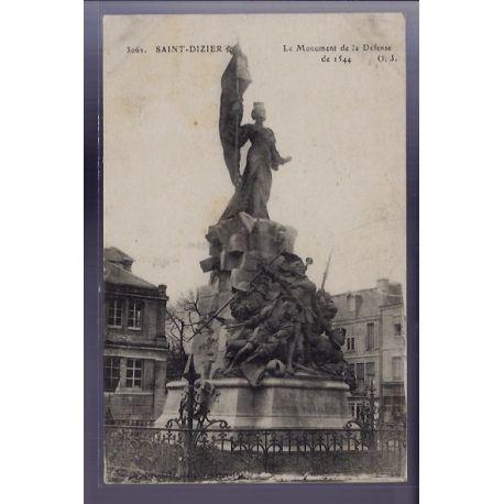 Carte postale 52 - Saint-Dizier - Le Monument de la Defense de 1544 - Voyage - Dos divise