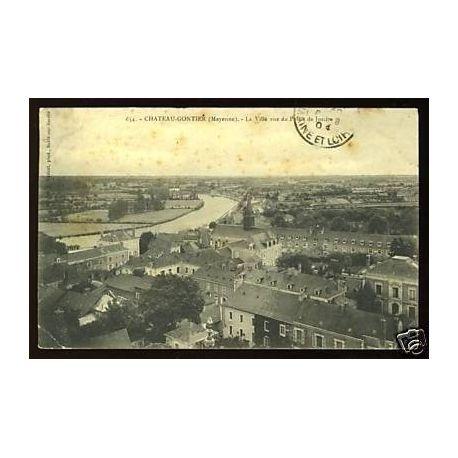 Carte postale 53 - Chateau-Gontier - Ville vue du Palais de Justice