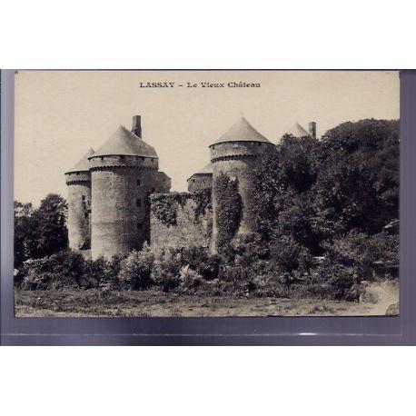 Carte postale 53 - Lassay - Le vieux chateau - Non voyage - Dos divise