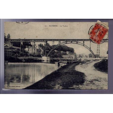Carte postale 53 - Mayenne - le Viaduc - Voyage - Dos divise