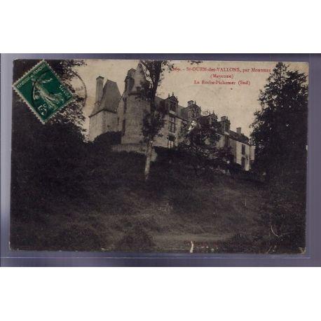 Carte postale 53 - St-Ouen-des-Vallons, par Montsurs - La roche-Pichemer (Sud) - Voyage - D