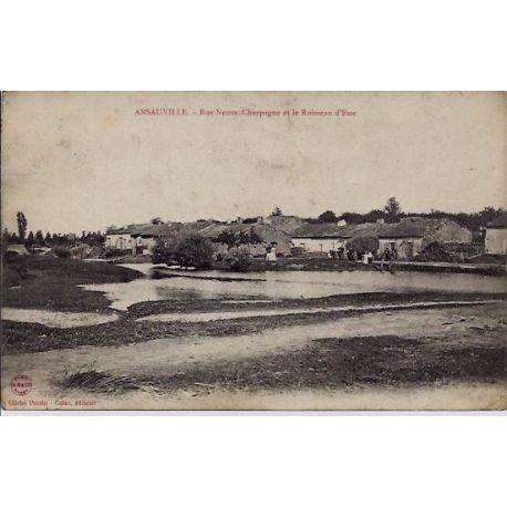 54 - Ansauville - Rue neuve-Charpagne et le ruisseau d'Esse - Voyage - Dos div