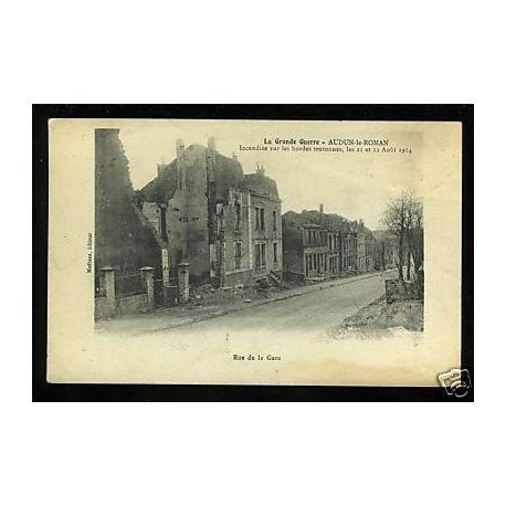 54 - Audun-le-Roman -Incendiee par les hordes teutonnes