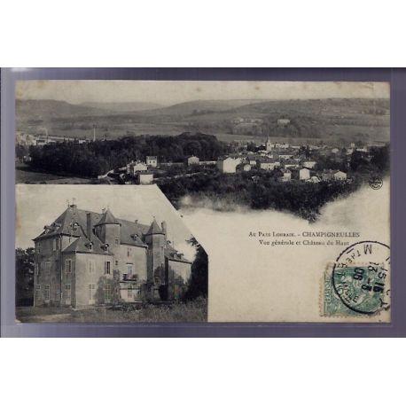 54 - Champigneulles - Vue generale et chateau du Haut - Voyage - Dos divise