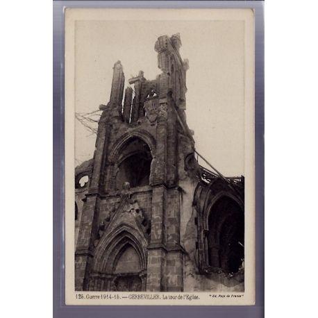 54 - Gerbeviller - La tour de l'eglise - Guerre 1914-1915 - Non voyage - Dos