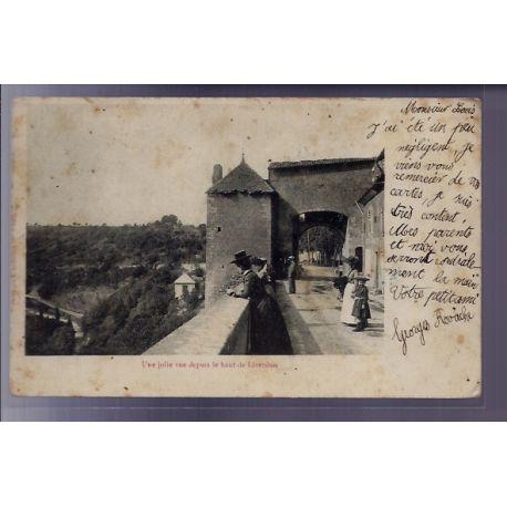 54 - Liverdun - une jolie vue depuis le haut de la ville - Voyage - Dos non d