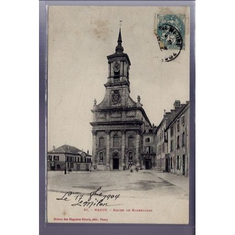 Carte postale 54 - Nancy - Eglise de Bonsecours - Voyage - Dos divise
