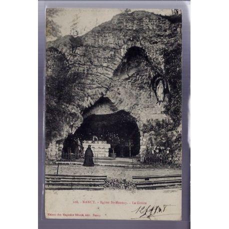 54 - Nancy - Eglise St-Mansuy - la Grotte - Voyage - Dos divise