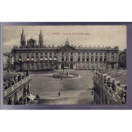 54 - Nancy - Hotel de Ville XVIIIe siecle - Non voyage - Dos divise