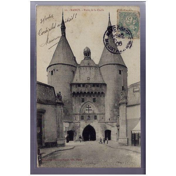 Carte postale 54 - Nancy - Porte de la Craffe - Voyage - Dos divise