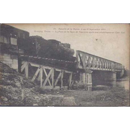 55 - Revigny - Train sur le pont de la ligne de Vouziers