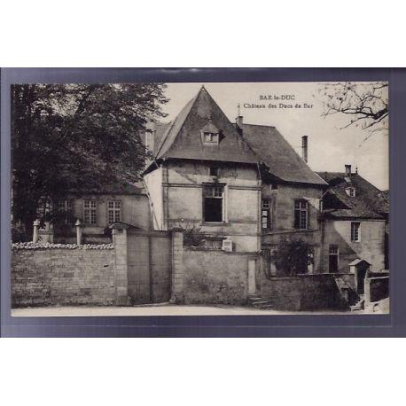 Carte postale 55 - Bar-le-Duc - Chateau des Ducs de Bar - Non voyage - Dos divise