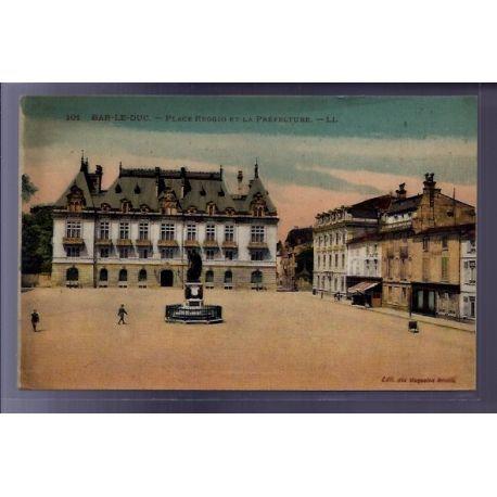 Carte postale 55 - Bar-le-Duc - Place Reggio et la Prefecture - Voyage - Dos divise