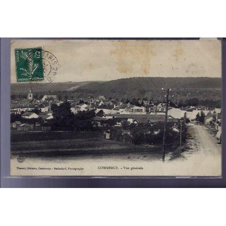 Carte postale 55 - Commercy - Vue generale - Voyage - Dos divise
