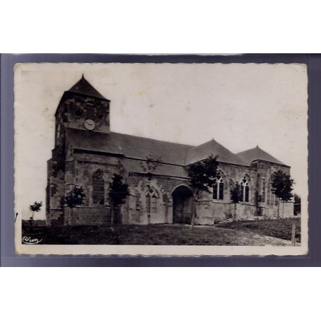 Carte postale 55 - Dun-sur-Meuse - Eglise Notre-Dame - Voyage - Dos divise