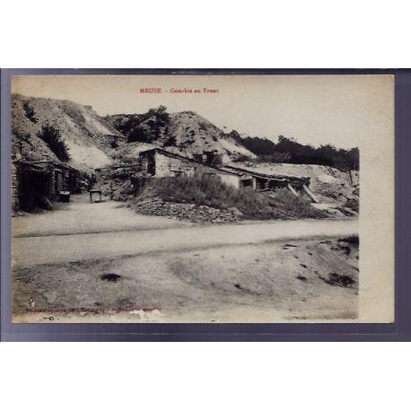 Carte postale 55 - Gourbis au Front - Non voyage - Dos divise