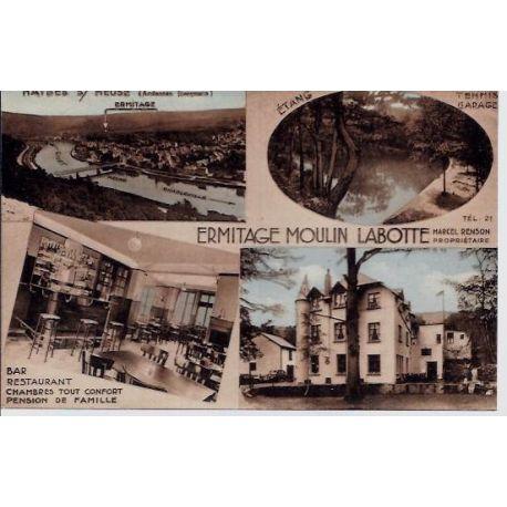 Carte postale 55 - Haybes sur Meuse - Ermitage Moulin Labotte - Differentes vues de la ville