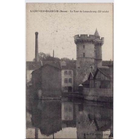 Carte postale 55 - Ligny-en-Barrois - La Tour de Luxembourg XI eme siecle - Non voyage - Dos