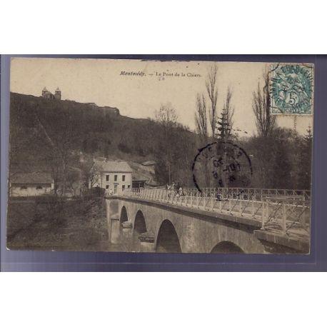 Carte postale 55 - Montmedy - Le Pont de la Chiers - Voyage - Dos divise