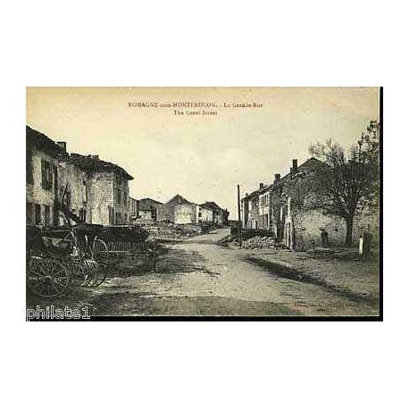Carte postale 55 - Romagne sous Montfaucon - La Grande Rue