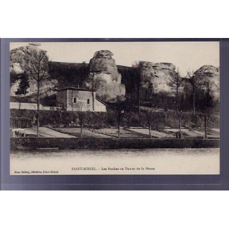 Carte postale 55 - Saint-Mihiel - Les roches ou Dames de la Meuse - Non voyage - Dos divise