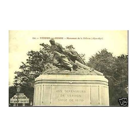 Carte postale 55 - Verdun - Monument de la defense